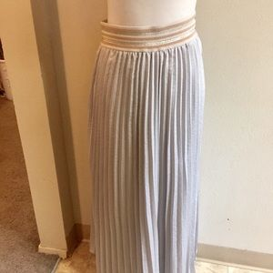 HD in Paris Maxi pleated skirt silver gray large